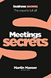 Collins Business Scecrets: Meetings cover